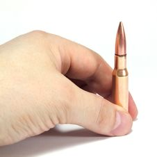 Free Ammunition In A Hand Royalty Free Stock Photo - 19015005