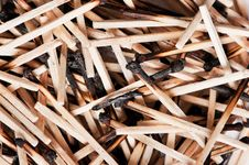 Free Burned Matches Stock Photography - 19015582