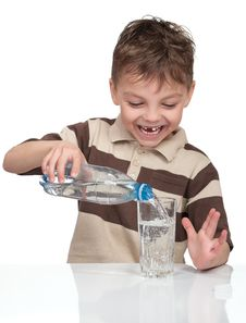 Free Boy With A Bottle Of Water Royalty Free Stock Image - 19015586