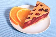 Cherry Pie With Orange Royalty Free Stock Images