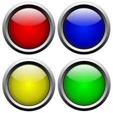 Free Glass Buttons 2 Stock Photography - 19015882