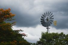 Free Windmill On A Cloudy Sky Royalty Free Stock Photography - 19016607