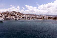Picturesque Port, Paros, Greece Stock Photography