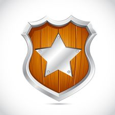 Free Royal Wooden Shield Stock Photo - 19016760
