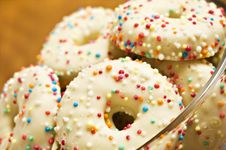 Free Decorated Cookies In A Bowl Royalty Free Stock Images - 19017429