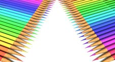 A Big Colored Pencil Royalty Free Stock Image