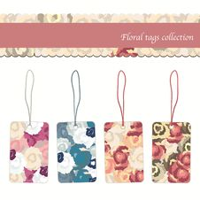 Free Floral Tags Collection Stock Images - 19017804