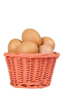 Free Basket With Eggs Stock Images - 19017824