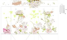 Template For Bag With Flowers Stock Photos