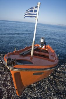 Free Orange Motorboat Royalty Free Stock Images - 19018459