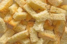 Free Croutons Background Royalty Free Stock Photo - 19018795