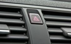 Car Push Button Warning Stock Images
