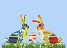 Free Decorative Easter Rabbits Stock Image - 19019401