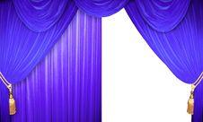 Free Blue Velvet Curtains Stock Image - 19019531