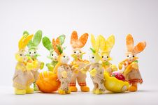 Free Bunnies Meeting Stock Images - 19019564