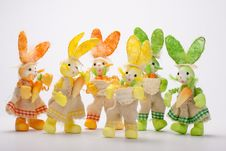 Free Bunnies Social Group Royalty Free Stock Photography - 19019577