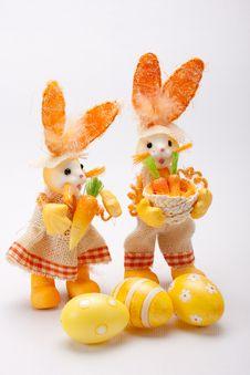 Free Orange Bunnies Couple Stock Photography - 19019682