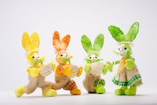 Free Suitor Bunnies Stock Images - 19019744