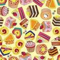 Free Seamless Cake Pattern Royalty Free Stock Photo - 19027995