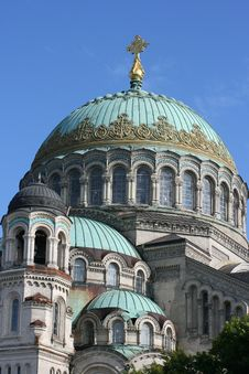 Naval Cathedral In Kronstadt Stock Images
