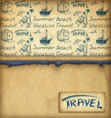 Free Background With Travel Wallpaper Royalty Free Stock Image - 19020406