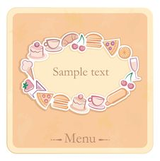 Free The Sample Of The Menu For Cafe Stock Photography - 19020882