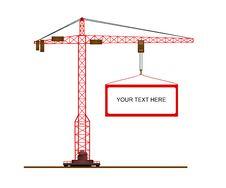 Free Crane, Cdr Vector Royalty Free Stock Photos - 19021358