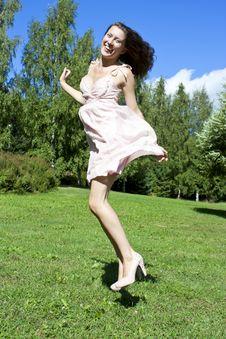 Free Beautiful Jumping Girl Stock Photography - 19021402
