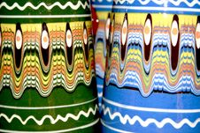 Free Colored Clay Cups Detail Royalty Free Stock Images - 19021909