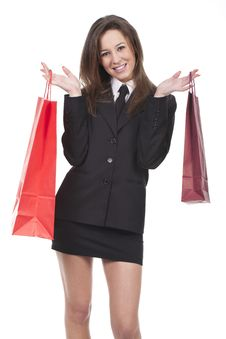 Free Woman With Shopping Bags Stock Image - 19022461