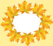 Autumn Leafs Circle Royalty Free Stock Images