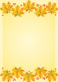 Free Autumn Leafs Template Royalty Free Stock Images - 19022589