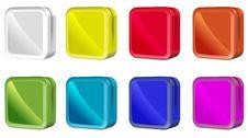 Square Color Box Icon Template Stock Photo