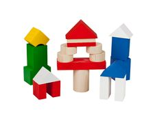 Free Several Houses Collected From  Wooden Blocks Royalty Free Stock Photography - 19022697