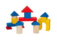 Free Several Houses Of Wooden Blocks. Stock Photography - 19022712