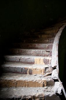 Free Old Broken Staircase Stock Image - 19023211