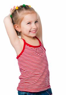 Free Portrait Of A Happy Liitle Girl Royalty Free Stock Photo - 19023725