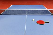 Equipment For Table Tennis Stock Image