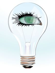Free Green Eye In Bulb Stock Images - 19024114