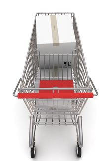 Free Shopping Cart With Boxes Stock Images - 19024134