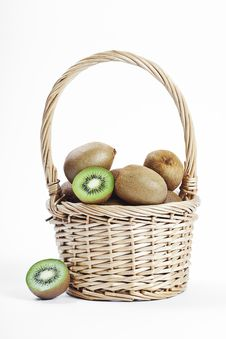 Free Kiwi In The Basket Royalty Free Stock Image - 19024156