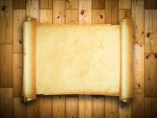 Free Vintage Blank Paper On Wood Texture Royalty Free Stock Images - 19026119