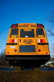 Free Rear View Of Yellow School Buss Stock Photo - 19026770