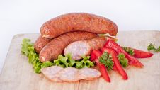 Free Pile Of Sausages Royalty Free Stock Image - 19026856