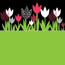 Free Background With Flowers. Vector Illustration Stock Photography - 19027252