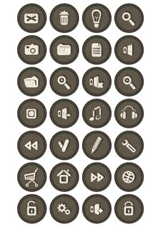 Free Icons For Web Stock Image - 19027331