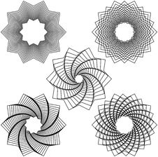 Free Five Black Spirals Royalty Free Stock Images - 19027369