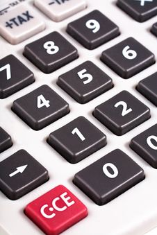 Free Grey Calculator Buttons Royalty Free Stock Images - 19027399