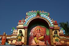 Statues Of Gods And Goddesses In The Hindu Temple Stock Photo