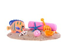 Free Colorful Beachtoys  And Sand Stock Photo - 19028630